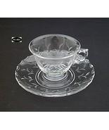 Fostoria Sprite Cut Cup And Saucer - $21.95
