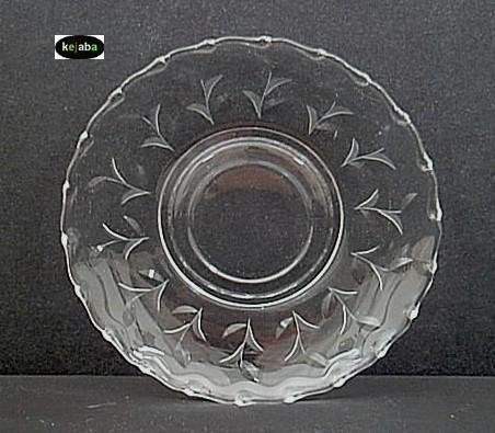 Fostoria Sprite Cut Cup And Saucer