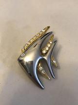 vintage fish pin Rhinestone Gold /silver Tone - $3.96