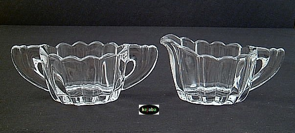 Primary image for Heisey Crystolite Creamer And Sugar Regular Size