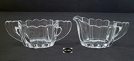 Heisey Crystolite Creamer And Sugar Regular Size - $23.75