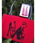 Lady in Red Classy Handbag + Bonus - $110.00