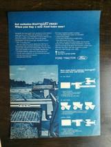Vintage 1969 Ford 532 Farm Tractor & 542 Heavy Duty Bailer Full Page Original Ad - $6.64