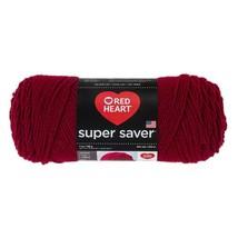 Red Heart Supersaver Yarn in Burgundy