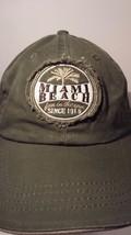 Miami Beach Green Baseball Cap Hat - $19.79