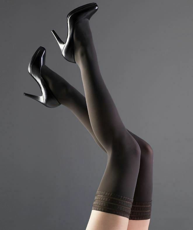 Falke ANTHRACITE Pure Matte Opaque Thigh Highs, Size US I 8 1/2-9 image 2