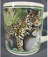 Leopard Coffee Mug 10oz Ceramic Good Company Laura Regan 1985 Applause - $17.95