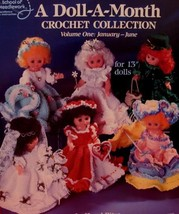 DOLL A Month Crochet Patterns VINTAGE 13 Inch Dolls Collection Volume 1  - $8.95