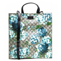 GUCCI GG Supreme Blooms Tote Shoulder Bag Blue Flower Floral Auth New Un... - $2,722.96 CAD