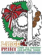 Large Print Adult Color by Number Coloring Book: Christmas Winter Wonder... - $17.09