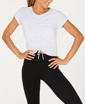 Calvin Klein Performance ruched-Front Cap Sleeve Top, Size M - $19.35