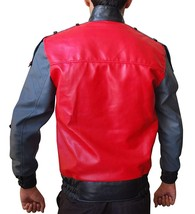 Marty McFly Back To The Future 2 Michael J Fox Red Bomber Faux Leather Jacket image 3