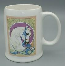 Rich Rudish Arabian Cup Mug Enesco horse equine vintage 1987 - $36.58