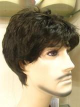 Fashion Short Straight Black Healthy Mens Boys Hair Cosplay Wigs - $45.50