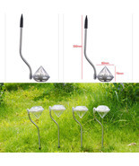 4X Waterproof Solar Power Outdoor Yard LED Path lamp Garden Lawn Landsca... - $260,79 MXN