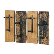 RUSTIC WINE WALL RACK - $40.55