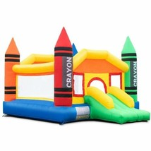 Durable Inflatable Crayon Bounce House Castle without Blower - $255.99