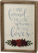 Primitives by Kathy I Found The One My Soul Loves Inset Box Sign - $24.70