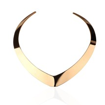 Statement Jewelry Choker Necklace Stainless Steel Classic Heart Shaped E - $58.98