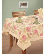 Colorful Multicolor Cotton Spring Floral Tablecloths Tables 60 X 102 Inc... - $65.24