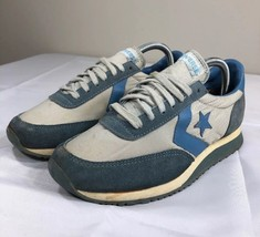 VTG Converse Sneakers Blue Suede Nylon Low Korea Blue Women's 8 70s 80s - $69.99