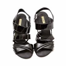 Auth Dolce Gabbana Black Patent Leather Strappy Sandal Slim Heel Size40 ... - $182.33