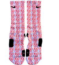 Custom 100 Emoji Nike Elite Socks ALL Sizes FAST SHIPPING - $23.99