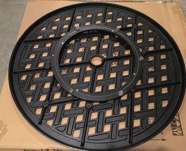 "Lazy Susan turntable 30"" rotates 360 degrees patio cast aluminum Nassau Bronze image 3"