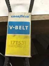 GOODYEAR MATCHED SET OF 2 HI-MILER V-BELT 17T531 - $20.43