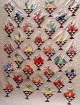 McKim 1930's newspaper Fruit Basket quilt pattern applique & patchwork   - $10.00