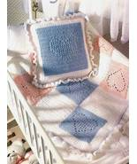 Y383 Crochet PATTERN ONLY Nursery Hearts Baby B... - $8.45