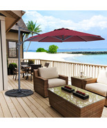 10 ft Cantilever Umbrella Offset Hanging Patio Umbrella W/ Cross Base - $179.99