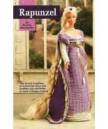 Y400 Crochet PATTERN ONLY Rapunzel Fashion Doll Barbie Gown Dress Pattern - $14.50