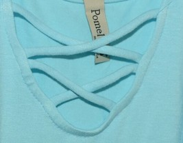 Pomelo Sky Blue Tunic Top Sleeveless Summer Top Girls Size Medium image 2
