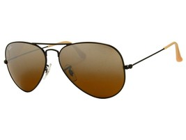 New Ray Ban Aviator RB3025 006/3K 58mm Black w/Brown Gradient Mirrored - $185.04