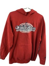 World Series 2004 St Louis Cardinals vs Boston Red Sox Hoodie Jacket Size M - $19.79