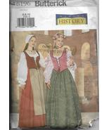 Butterick 6196 History Period Costume Maiden Dress Size 6 8 10 Ladies F/... - $11.00