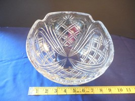 "Fostoria Crystal Pineapple Serving Centerpiece Bowl Dish 8""  1992 - $18.99"
