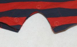 MudPie Puppy Polo One Piece Red Blue Cambray Collar 12 to 18 Months image 6