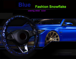 Car Blue Shiny Snowflake Steering Wheel Cover Anti-slip Cute Car Styling... - $18.68