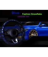 Car Blue Shiny Snowflake Steering Wheel Cover Anti-slip Cute Car Styling... - $18.68
