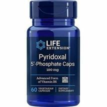 NEW Life Extension Pyridoxal 5-Phosphate 100 Mg Vegetarian Capsules 60-C... - $18.00