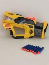 Firefly Nerf Gun Rev-8 Revolving Flashing Dart Gun Hasbro with Darts Bat... - $31.14