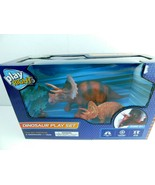 Play Right Triceratops Dinosaur Play Set Age 3+ NEW 3 pc Set - $9.89