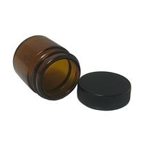 Small Amber Glass Jar - NEW - FREE SHIPPING! - $5.45