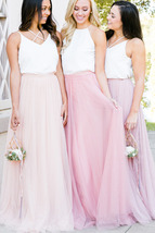 Spaghetti Strap Bridesmaid Tops Summer Wedding Women Chiffon Tops Petite Size image 3