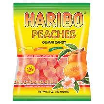 Haribo Peaches - Natural - Case of 12 - 5 oz. - $22.99