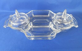 Fostoria,  Crystal Condiment,  4 Part, circa 1960's - $14.00