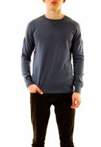 Denham Men's Carver Knit Pullover Sweater Cinder Boro Blue Size M RRP £1... - $116.79