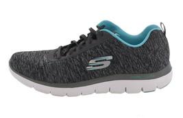 Skechers Flex Appeal 20 Heathered Sneakers Black Lite Blue 11M NEW A350532 - $43.05 CAD